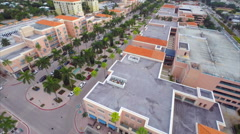Aerial Misner Park promenade shops 5 Stock Footage