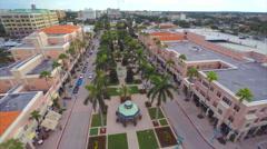 Aerial Misner Park promenade shops 2 2.7k Stock Footage