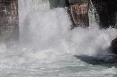 Hydroelectric power station water flow Stock Photos