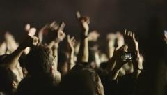 Recording concert with cellphone camera 03 Stock Footage