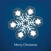 vector christmas postcard design with denim jeans background - stock illustration