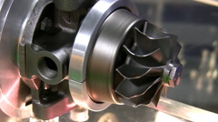 Part of electrical motor or mechanism spinning slowly. Stock Footage