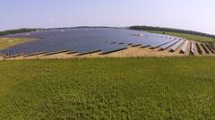 Massive Solar Panel Generating Station Stock Footage