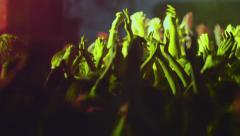 concert people crowd fans hands in the air 011 - stock footage