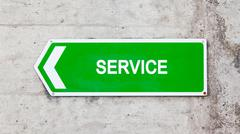 Stock Photo of green sign - service