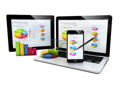 Finances devices Stock Illustration