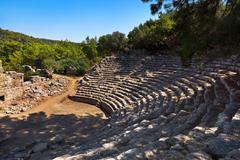 Old amphitheater phaselis in antalya, turkey Stock Photos