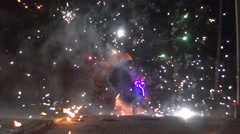 Fire show - stock footage