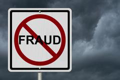 no fraud sign - stock illustration