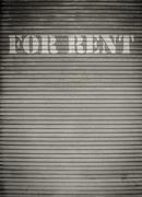 For rent store shutters Stock Photos