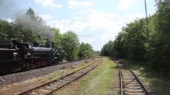 Steam train, Prague Stock Footage
