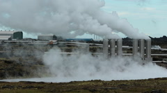 Svartsengi geothermal power plant in Iceland. Stock Footage