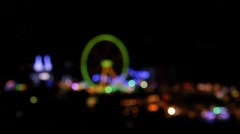 Carnival at night Stock Footage