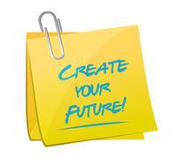 Create your future post illustration design Stock Illustration