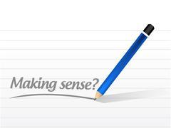making sense question illustration design - stock illustration