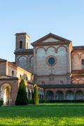 The monumental graveyard of ferrara city Stock Photos