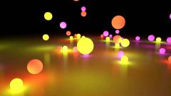 Colorful light balls background can be use for any fashion and concert theme Stock Footage