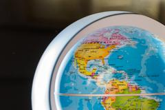 View of earth with political borders. focus on united states Stock Photos