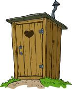 Rural toilet Stock Illustration