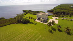 Aerial Deering Estates 2 Stock Footage