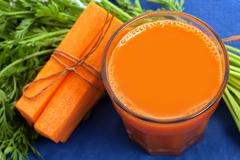 Stock Photo of Carrot juice in glass