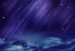Beautiful background of the night sky Stock Illustration