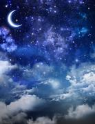 Beautiful background, nightly sky Stock Illustration