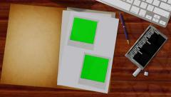 Secret Files opens animation with green screen pictures inside - 4K Ultra HD  Stock Footage