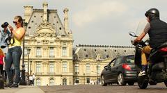 Checking a babe out in Paris Stock Photos