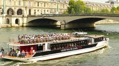 Pleasure cruiser in Paris - stock photo