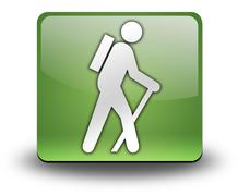 Stock Illustration of icon, button, pictogram hiking
