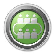 Icon, button, pictogram conference Stock Illustration