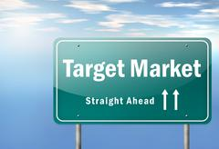 Stock Illustration of highway signpost target market