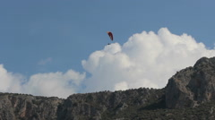 Parasail in the mountains Stock Footage