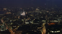 Night time timelapse of london with St Paul's Cathedral Stock Footage