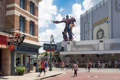 the new  transformers 3d ride at universal studios florida - stock photo