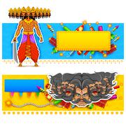 Ravan in Dussehra advertisment and promotion poster Stock Illustration