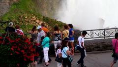 Waterfalls general view Stock Footage