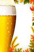 Oktoberfest celebration background - stock illustration