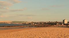 Portobello beach Stock Footage