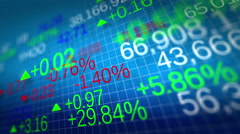 4K. Display of Stock market quotes. Shallow depth of fields. Loop ready. Stock Footage