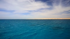 Seascape Red sea Stock Footage