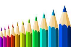 crayons - stock illustration