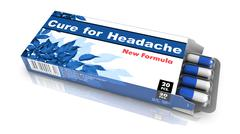 Cure for Headache - Pack of Pills. - stock photo