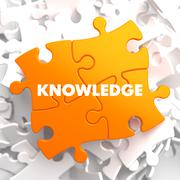 Knowledge on Orange Puzzle. Stock Illustration