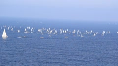 Stock Video Footage of Santander, Spain - September 12, 2014: ISAF Sailing World Championships