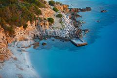 View of beautiful sea, Sardinia, Italy Stock Photos