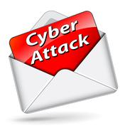 Stock Illustration of vector cyber attack icon