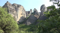 Meteora Orthodox Ancient Monasteries, Churches in Greece, Landmark, Tourists, 4K Stock Footage