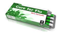 Cure for Flu - Pack of Pills. Stock Illustration